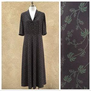 Sundance Silk Retro Maxi Sleeve Dress 4
